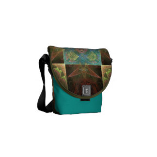 Metallic Brown Blue And Gold Abstract Commuter Bag