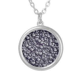 Metallic Bubble Round Pendant Necklace