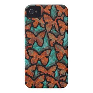 METALLIC BUTTERFLIES iPhone 4 Case-Mate Case