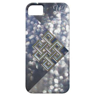 Metallic Celtic Knot Glitter Monogram Case. iPhone 5 Cover