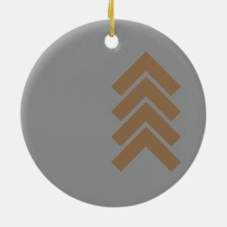 Metallic Chevron Round Ceramic Decoration