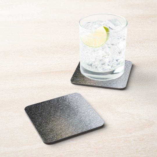 Metallic Chrome Steel Industrial Cork Coasters