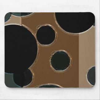Metallic Circles device skins cases Mousepads
