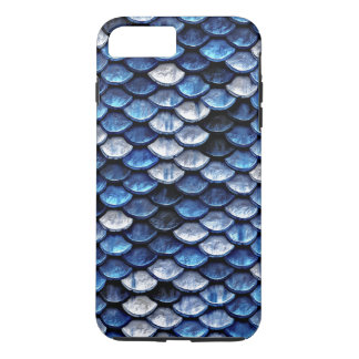 Metallic Cobalt Blue Fish Scales Pattern iPhone 8 Plus/7 Plus Case