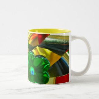 Metallic Coloured Windmills Mug