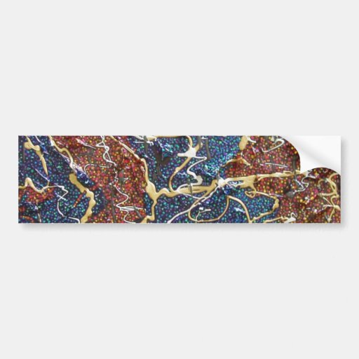 Metallic Continents Painting Bumper Stickers