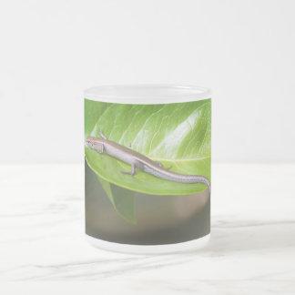 Metallic Cool Skink Niveoscincus Metallicus Frosted Glass Mug