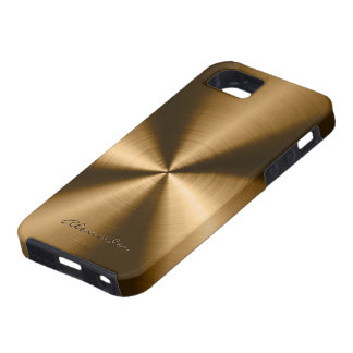 Metallic Copper Brown Stainless Steel Look iPhone 5 Case