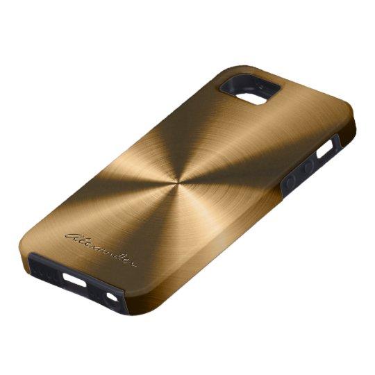 Metallic Copper Brown Stainless Steel Look iPhone 5