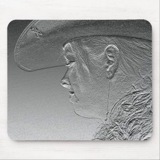 metallic cowgirl mouse mat