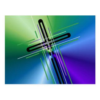 Metallic Crucifix. Post Card