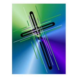 Metallic Crucifix. Postcard