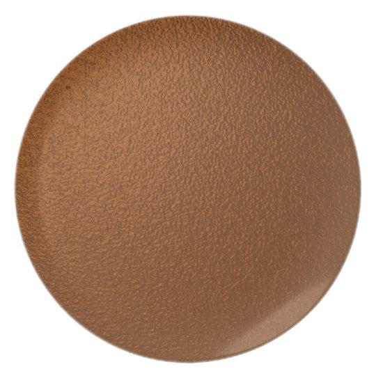 Metallic Dark Bronze-Coloured Plate