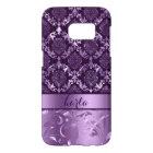 Metallic Dark & Light Purple Damasks And Lace