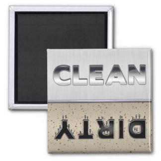 Metallic Design Clean or Dirty Dishwasher Magnet