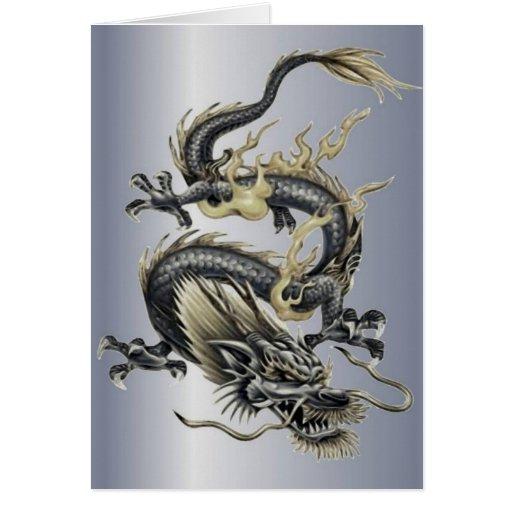 Metallic Dragon Greeting Card