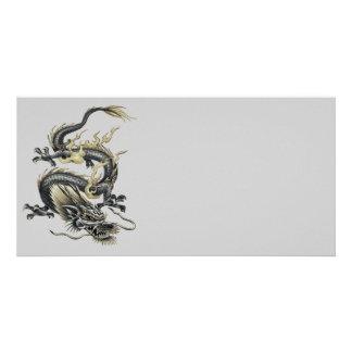 Metallic Dragon Picture Card