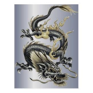 Metallic Dragon Postcard