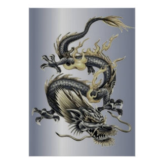 Metallic Dragon Poster