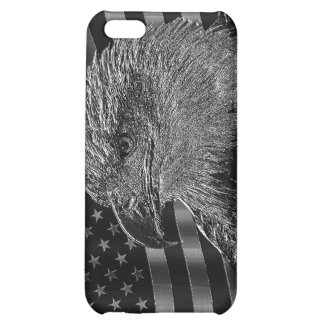 Metallic Eagle And American Flag Cover For iPhone 5C