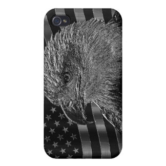 Metallic Eagle And American Flag iPhone 4/4S Case
