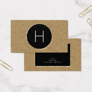 Metallic Effect Monogram Business Card