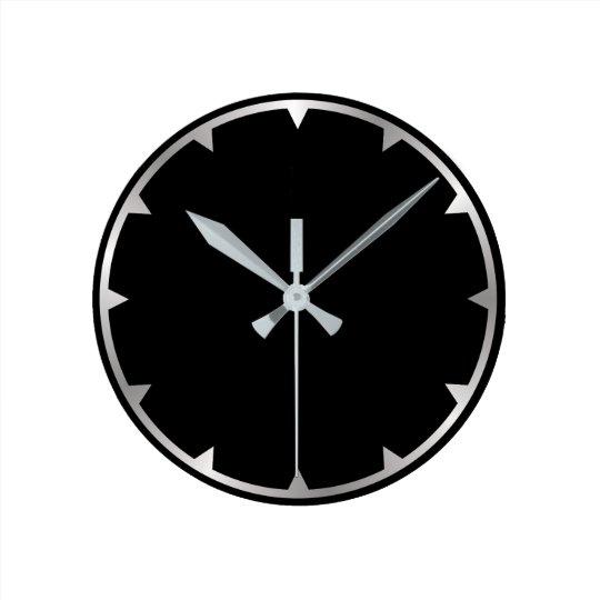 Metallic effect simply wall clock