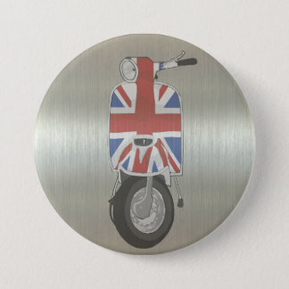 Metallic effect UJ Scooter 7.5 Cm Round Badge