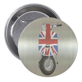 Metallic effect UJ Scooter 7.5 Cm Round Badge