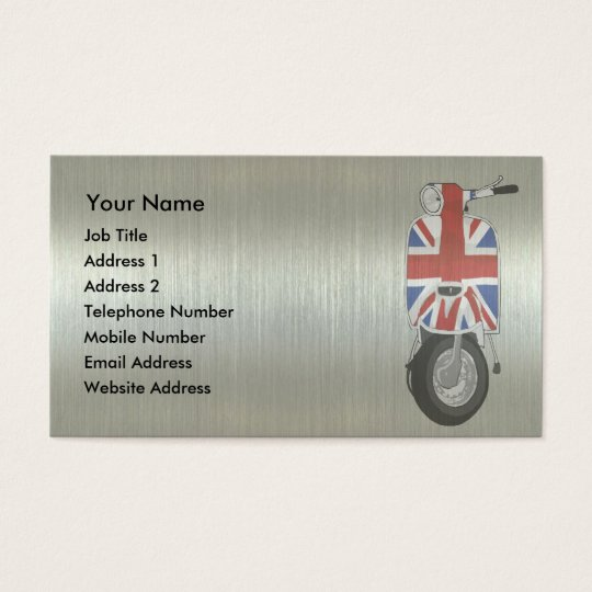 Metallic effect UJ Scooter Business Card