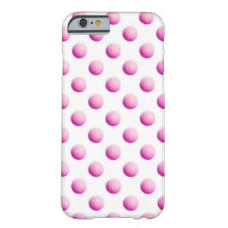 Metallic Faux Foil Pink Golf Balls Background Ball Barely There iPhone 6 Case