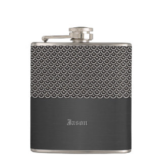 Metallic Fish Scale Look Custom Flask