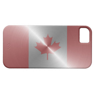 Metallic Flag Of Canada Barely There iPhone 5 Case