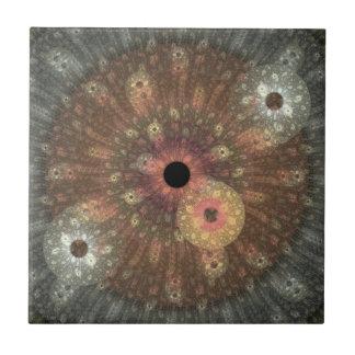 Metallic Flame Fractal Tile