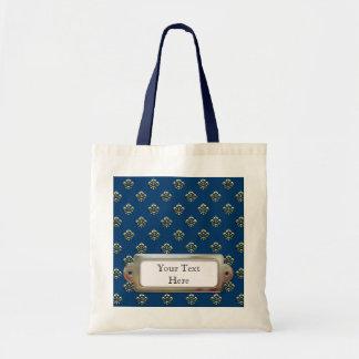 Metallic Fleur de lis (Gold) Budget Tote Bag