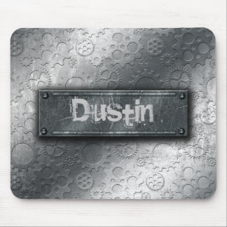 Metallic Gears with Bolted Label –Add Name- Mouse Pad