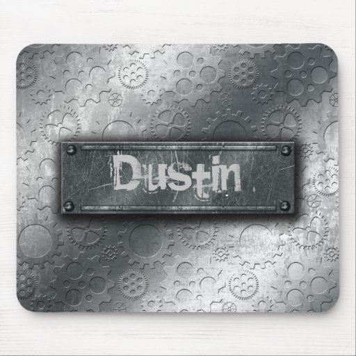 Metallic Gears with Bolted Label –Add Name- Mousepad