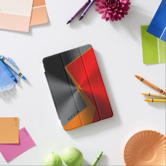 Metallic Geometric Black Red & Orange Design iPad Mini Cover