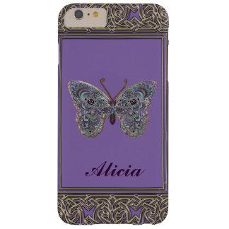 Metallic Glitter Butterfly iPhone 6 Plus Case