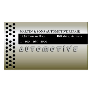 METALLIC GOLD AUTO BUSINESS CARD TEMPLATES