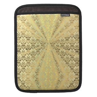 Metallic gold damsk sleeves for iPads