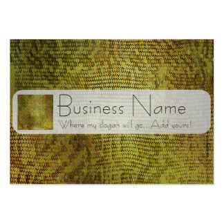 Metallic Gold Dragon Scales Pack Of Chubby Business Cards