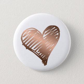 Metallic Gold Heart Button