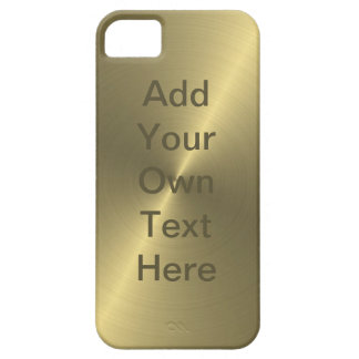 Metallic Gold iPhone 5 Covers