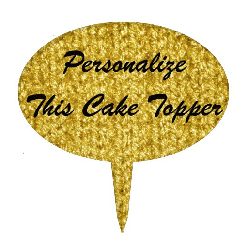 Metallic Gold Knit Texture Cake Toppers