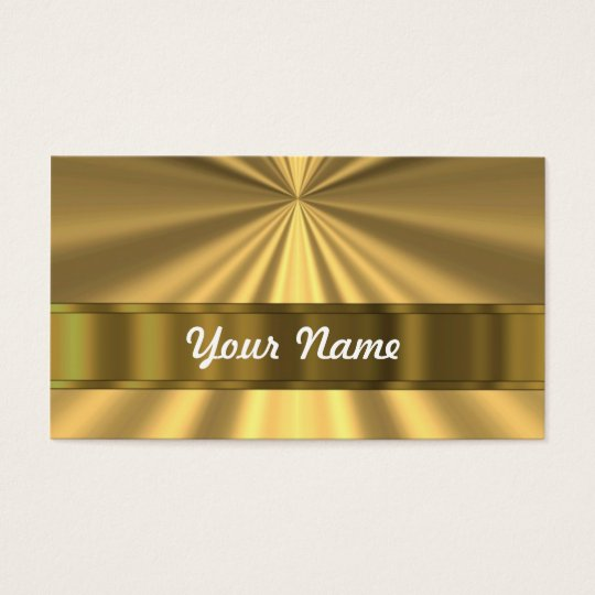 Metallic Gold looking Business Card