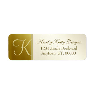 Metallic Gold Return Address Labels
