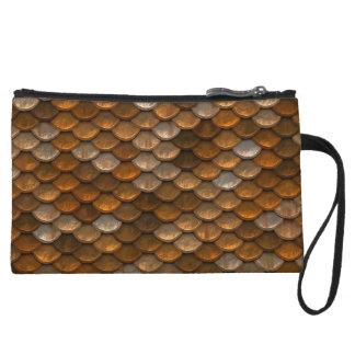 Metallic Gold Silver Copper Mini Clutch Bag