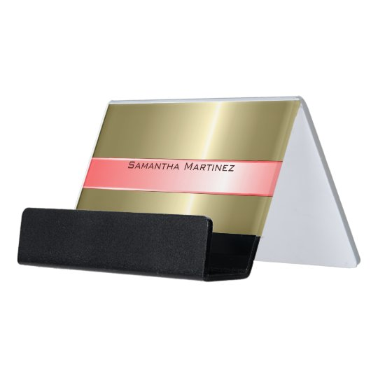 Metallic Gold Stainless Steel And Pink Desk Business