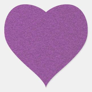 Metallic Grape Heart Sticker
